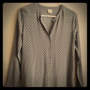 Ecru women's blouse, shirt,size Xs